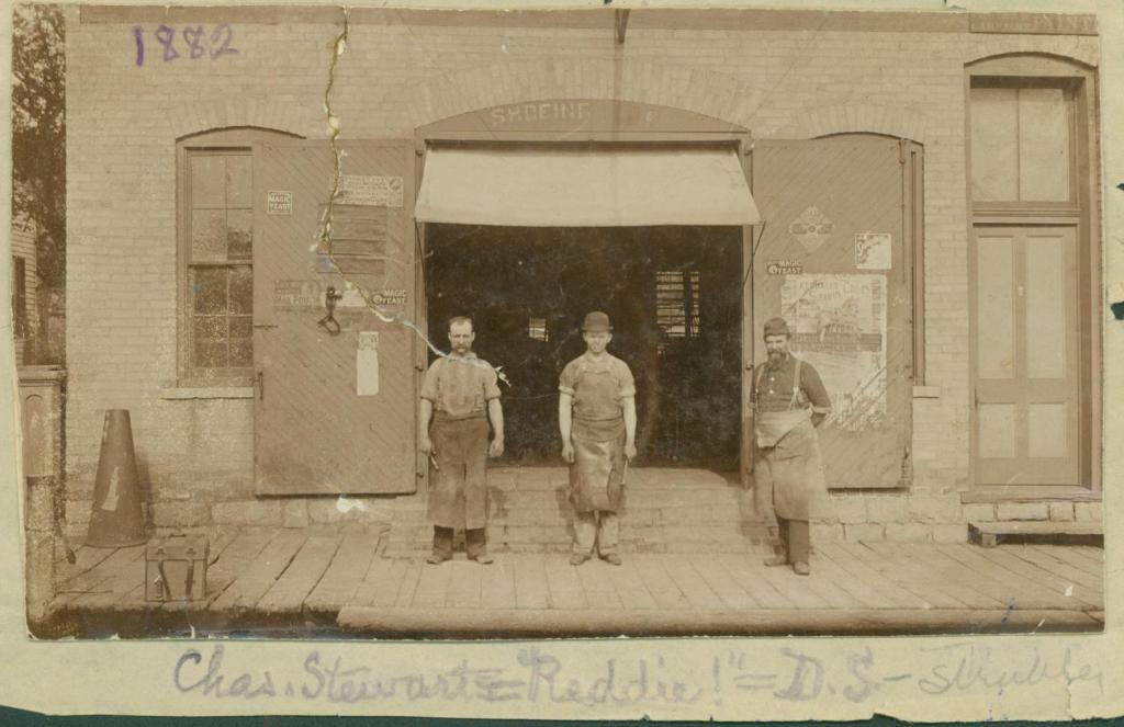 Strubler blacksmith shop employees, circa 1890s