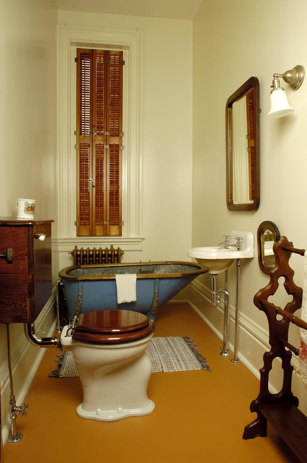 Upstairs bathroom, Lizzie Martin's bedroom, Martin-Mitchell Mansion