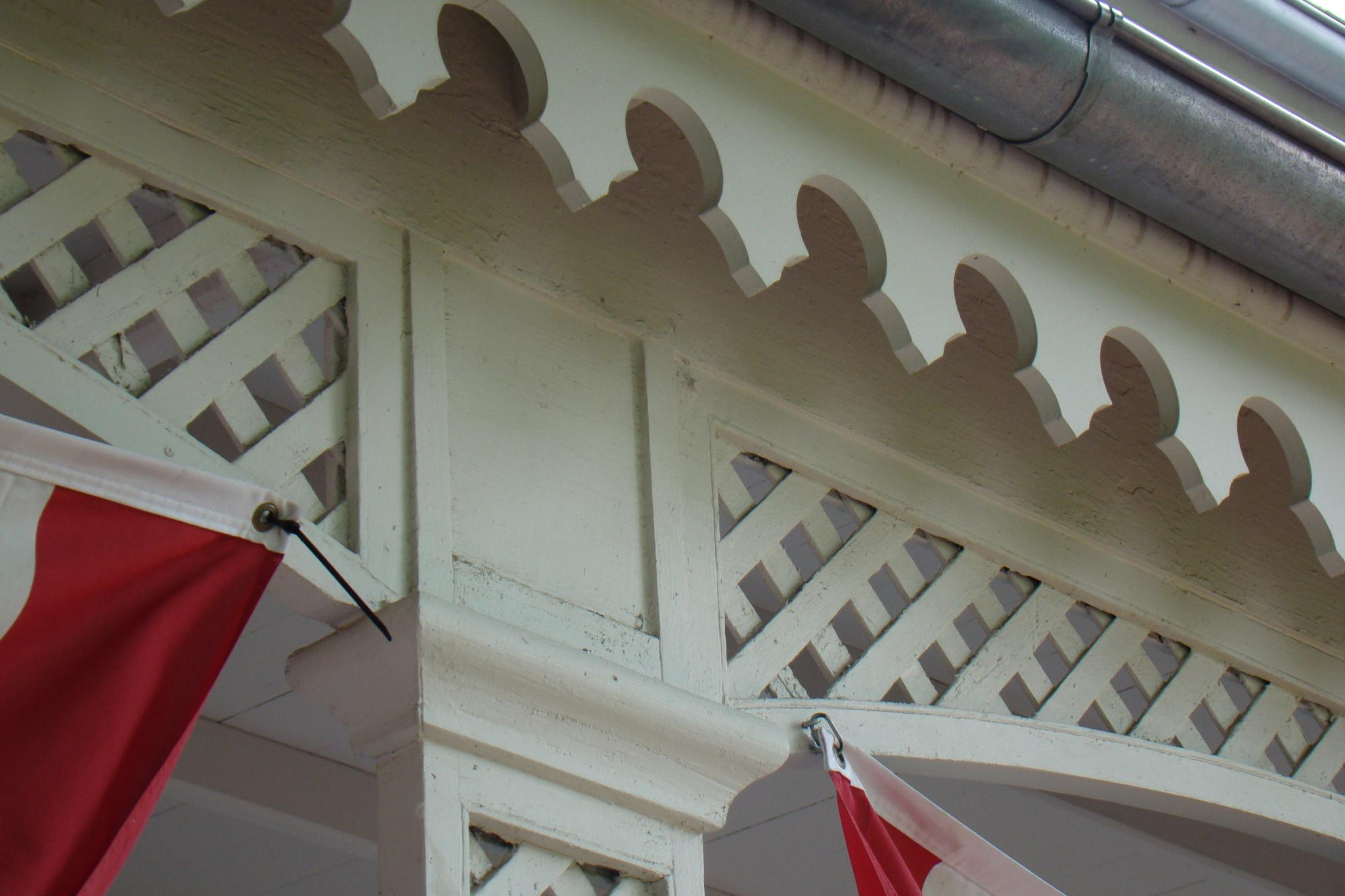 Porch detail, Paw Paw Post Office