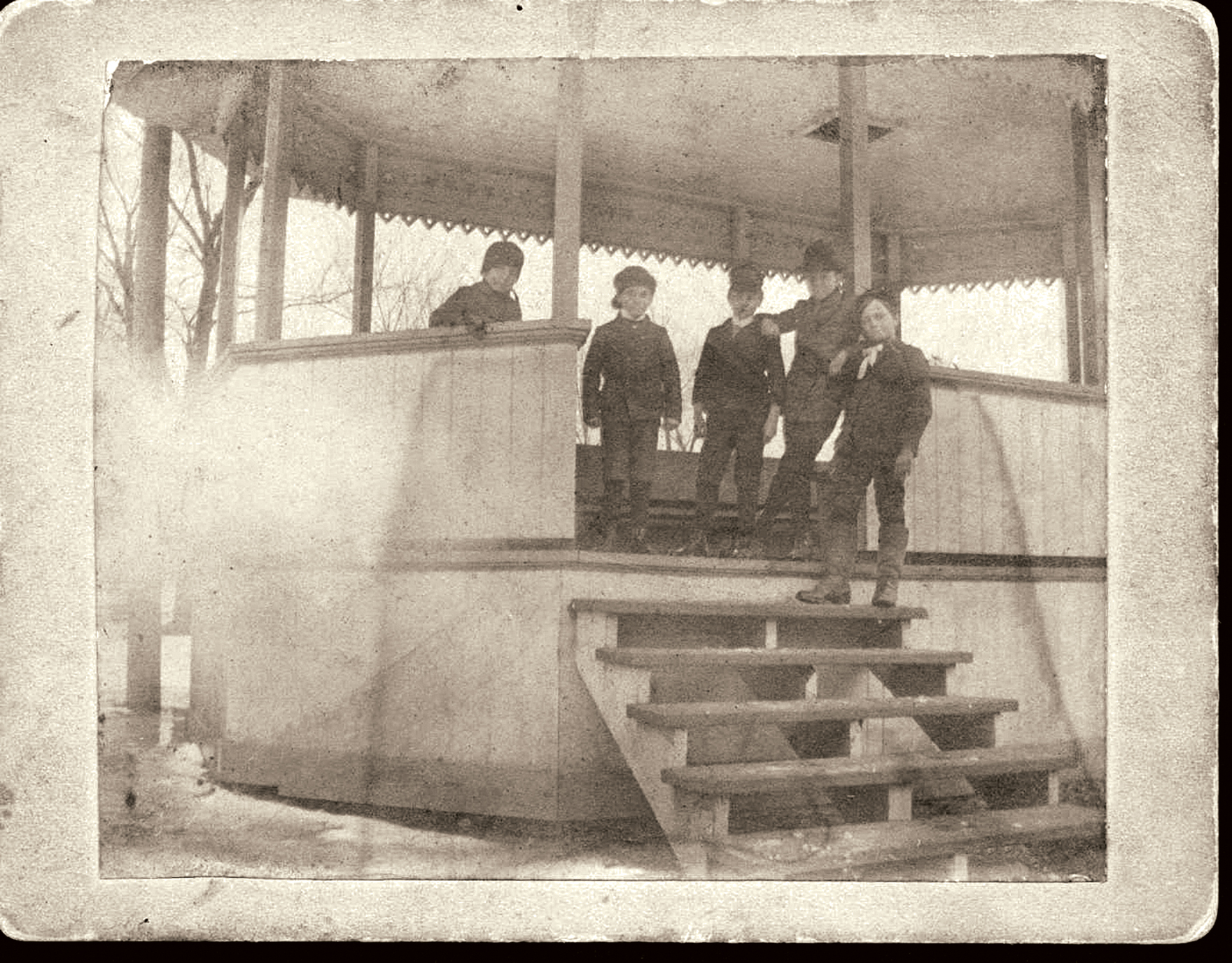 Children at Central Park bandstand, late nineteenth century