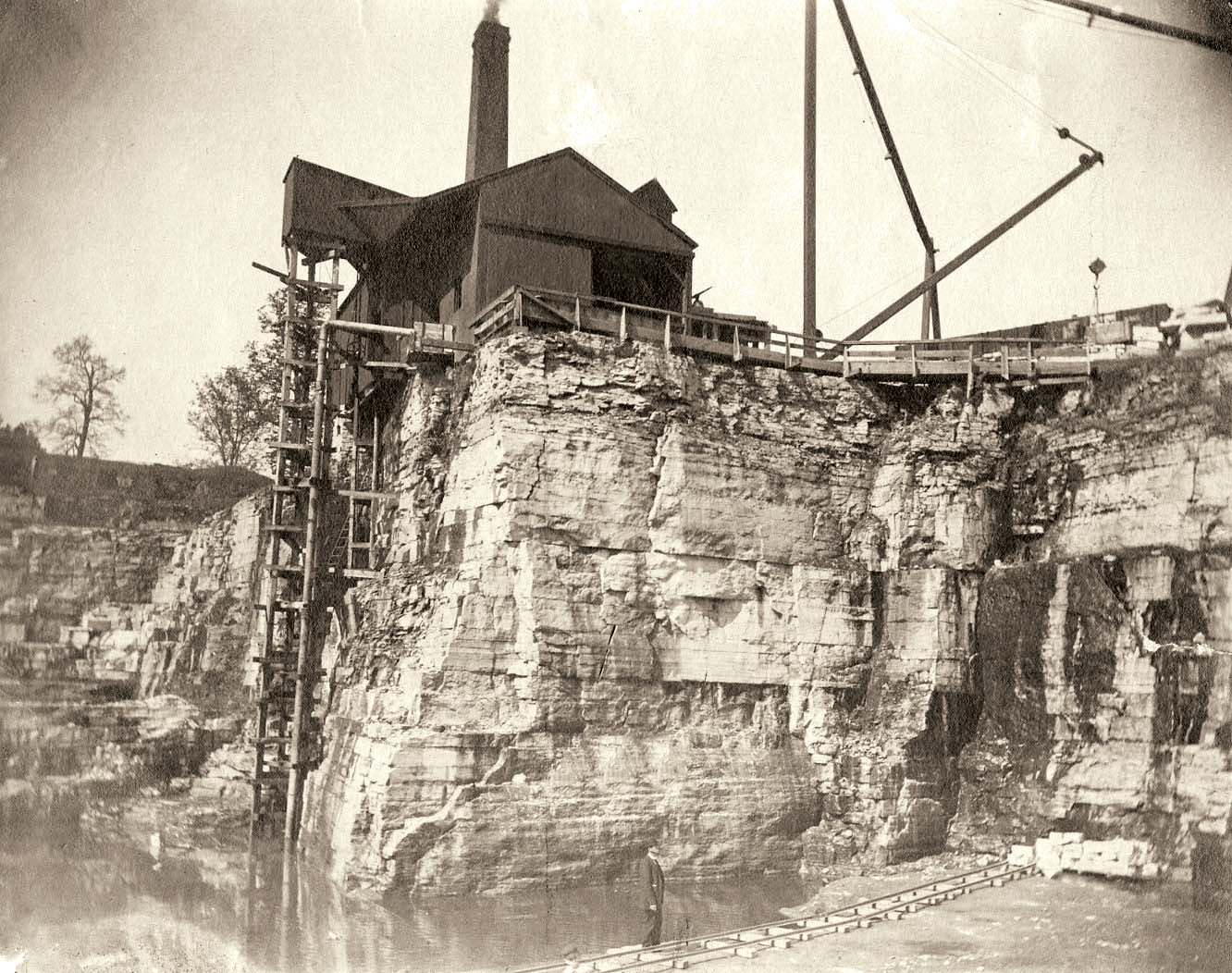 Naperville quarry, late nineteenth century