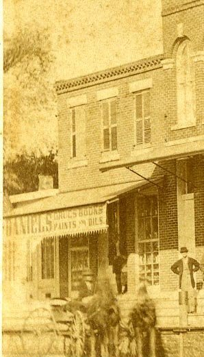 Photograph of Dr. Daniels' drigstore and medical office